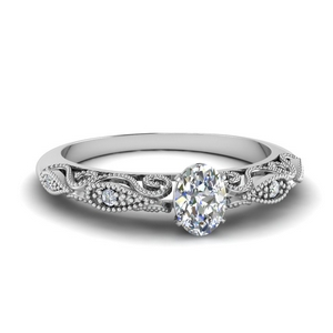 paisley oval diamond engagement ring in FD69805OVR NL WG