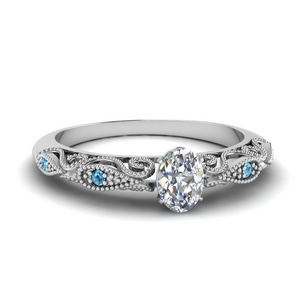 paisley oval diamond engagement ring with blue topaz in FD69805OVRGICBLTO NL WG.jpg