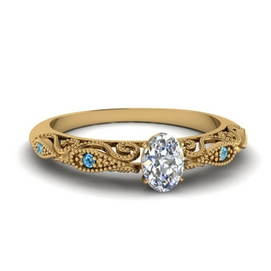 paisley oval diamond engagement ring with blue topaz in FD69805OVRGICBLTO NL YG.jpg