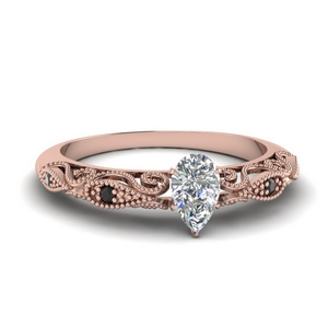 Pear Shaped Paisley Diamond Ring