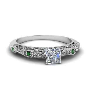 Paisley Diamond Engagement Ring
