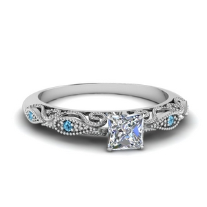 paisley princess cut diamond engagement ring with blue topaz in FD69805PRRGICBLTO NL WG.jpg