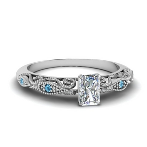 paisley radiant diamond engagement ring with blue topaz in FD69805RARGICBLTO NL WG.jpg