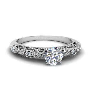 Half Carat Diamond Filigree Ring