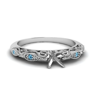 paisley semi mount diamond engagement ring with blue topaz in FD69805SMRGICBLTO NL WG.jpg