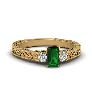 Emerald Cut Emerald Rings