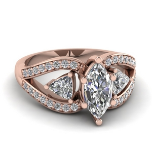 Marquise Cut Trillion Antique Ring