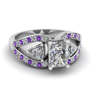 Infinity Purple Topaz Diamond Ring