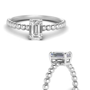 18K White Gold One Diamond Ring