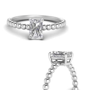 Radiant Cut Diamond Solitaire Rings