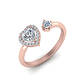 open wrap heart diamond engagement ring in FD71903HTRANGLE2 NL RG