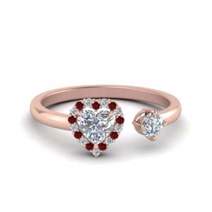 Ruby Engagement Ring With Halo