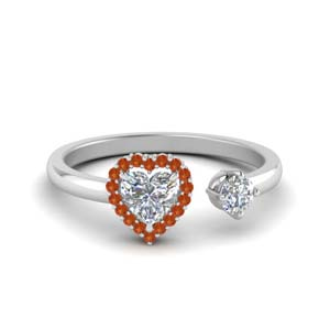Open Heart Halo Wrap Ring