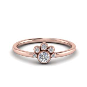 Delicate Bezel Set Diamond Ring