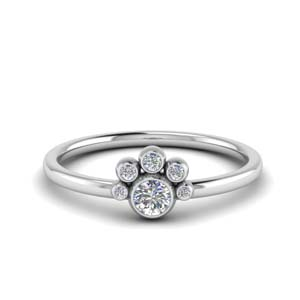 Petite Bezel Diamond Ring