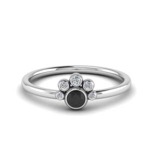Platinum Black Diamond Ring