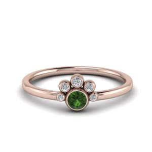 Bezel Set Emerald Ring