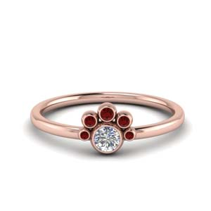 Accent Ruby Petite Ring