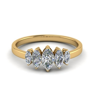 5 Stone Marquise Ring 1 Carat