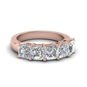 2.50 Carat Diamond Band 14K Rose Gold