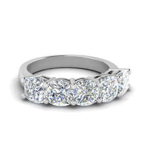 14K White Gold Women Wedding Band