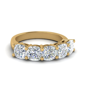 14K Yellow Gold 2.5 Carat Diamond Band