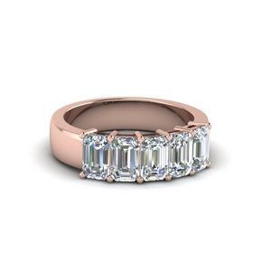 Emerald Cut Diamond Band (1 Ct.)