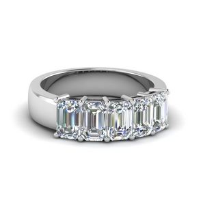 Emerald Cut Five Stone Ring