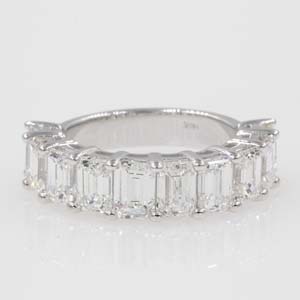 5 Carat Emerald Cut Wedding Band