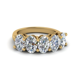 Oval Diamond Anniversary Band For Women