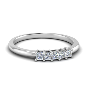 0.25 Ct. Princess Cut Diamond Band