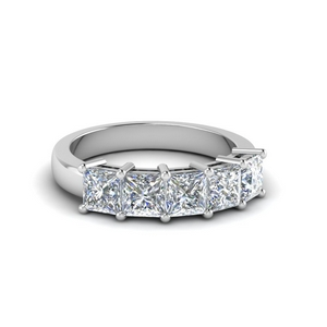 1.5 Ct. Princess Cut 5 Stone Ring