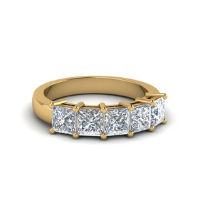 14K Yellow Gold 5 Stone Ring