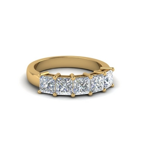 Five Stone Wedding Band One Carat
