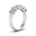 wedding band 2.5 ct. princess cut white diamond in 14K white gold FD8008PRBANGLE2 NL WG
