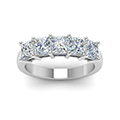 wedding band 2.5 ct. princess cut white diamond in 14K white gold FD8008PRBANGLE5 NL WG