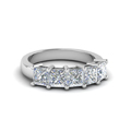 wedding band princess cut white diamond in 14K white gold FD8008PRB NL WG