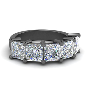 5 Carat Princess Diamond Wedding Band