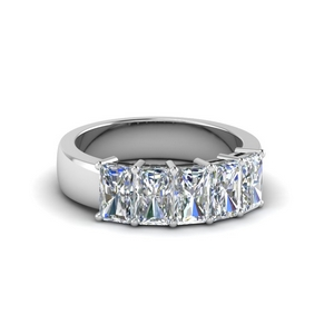 1.50 Ct. Radiant Cut Wedding Band