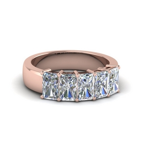 five stone radiant diamond anniversary band 2 ct. in 18K rose gold FD8008RAB 2CT NL RG