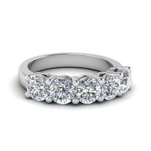 2.5 Carat Round Diamond Wedding Band