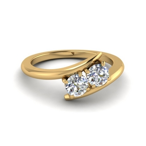 14K Gold Crossover Ring