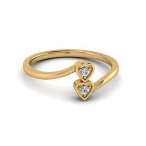 Cheap 2 Stone Ring