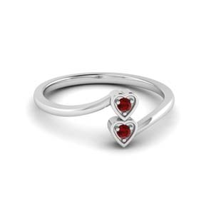 Ruby Crossover Promise Ring