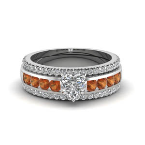 Trio Set With Orange Sapphire