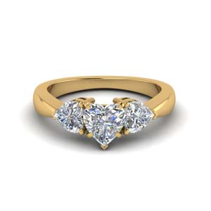 3 Heart Diamond Ring
