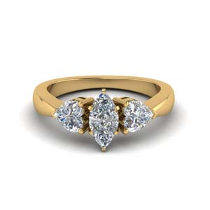 3 Stone Marquise Diamond Rings