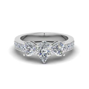Pave Diamond Ring 2 Carat