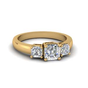 Asscher Cut Ring 1 Carat