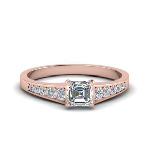 Graduated Asscher Diamond Ring